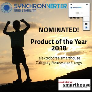 Synchronverter nominated for product of the year 2018!