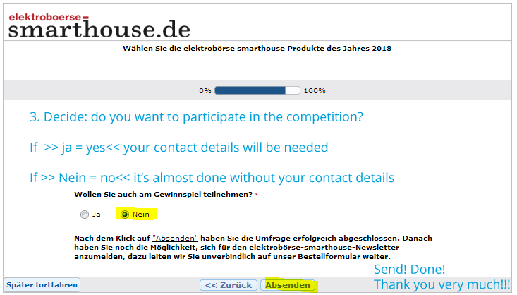 Instruction how to vote for Non-German speaking