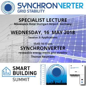 Smart Building Summit Fachvortrag Synchronverter