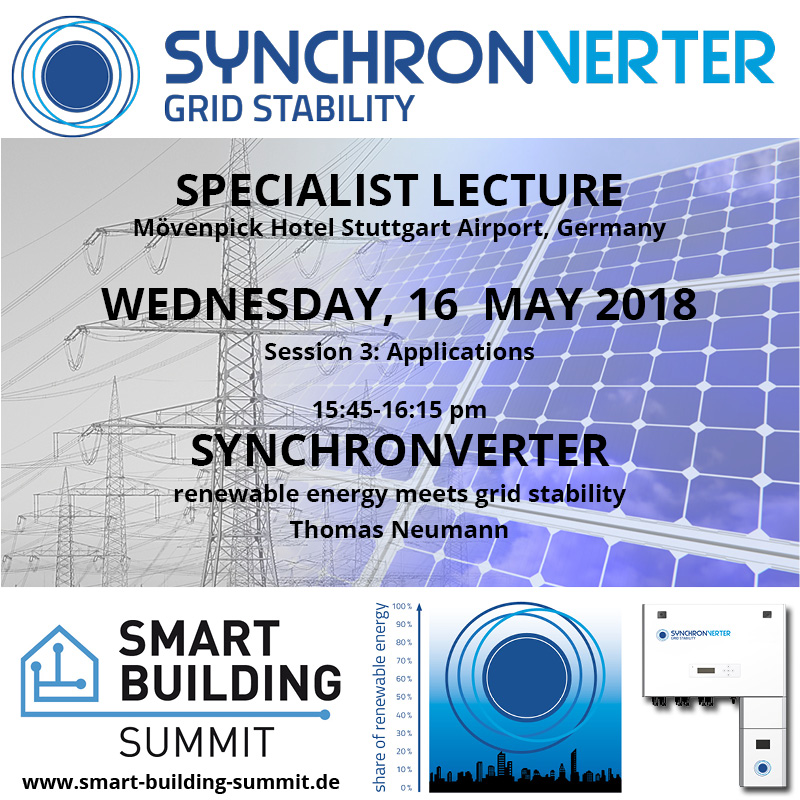 Smart Building Summit Fachvortrag Synchronverter
